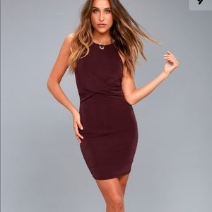 Lulu's Plum Purple Bodycon Dress